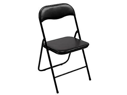 Toolland FP168B Tolland Chaise pliante, noir, Dimensions 38 cm x 43 cm x 78 cm