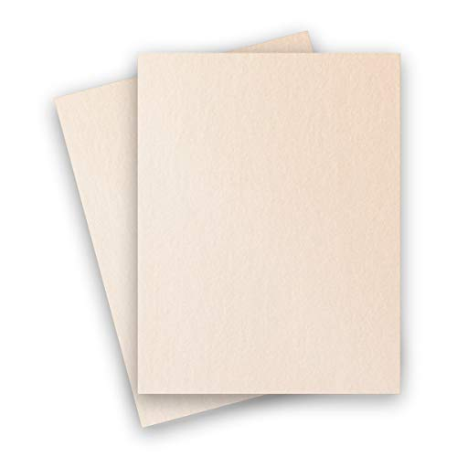 (Metallic Soft Coral 8-1/2-x-11 Cardstock Paper 25-pk - PaperPapers 284 GSM (105lb Cover) Letter size Metallic Card Stock Paper - Business, Card Making, Designers, Professional and DIY Projects)