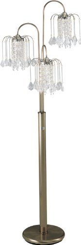 S.H. International Elegance Crystal-Like Shades Floor Lamp 63