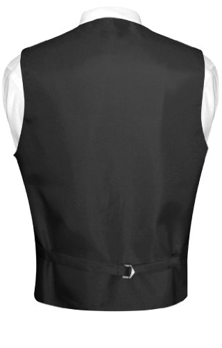 Men's Paisley Design Dress Vest & NeckTie SILVER GREY Color Gray Neck Tie Set