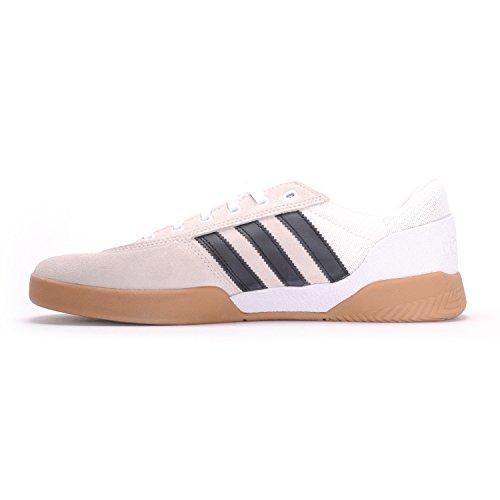 adidas Männer City Cup Skateschuh Schuhe Weiß, Kern Schwarz, Gum4