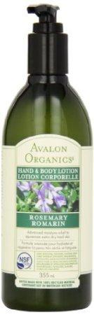 Avalon Organics Rosemary Hand And Body Lotion, 12 Ounce