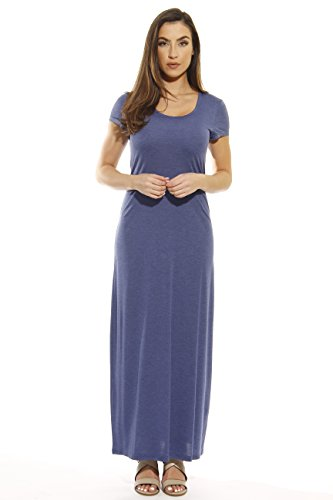 401502-DNM-L Just Love Summer Dresses / Maxi Dress,Heathered - Knit Stretch Denim Dress