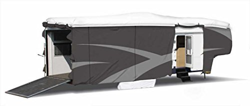 ADCO 34851 Designer Series Gray/White Upto 23' Dupont Tyvek Fifth Wheel Trailer Cover by ADCO (Image #1)