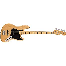 Squier by Fender Classic Vibe 70's Jazz Bass Guitar – Maple – Natural