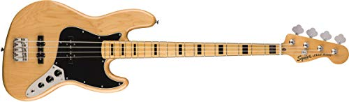 Squier by Fender Classic Vibe 70's Jazz Bass Guitar - Maple - Natural