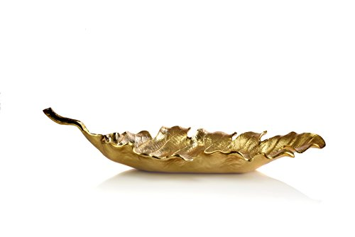 IMPULSE! Porta Leaf Serving Dish, Small, Gold (Dish Small Leaf)