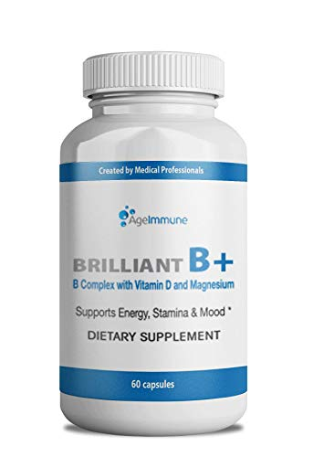 Vitamin B Supplements Complex with B6, D, Magnesium, Methylated B12 and Folate (Folic Acid). Doctor Formulated Best Quality Vitamins for Neuro and Energy Support, Stress and Depression Relief. (Best Magnesium For Depression)