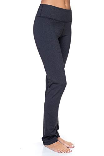 AEKO Women's Bootleg Yoga Pants Flare Leg Workout Leggings (L USA 6-8, L98-CHA)