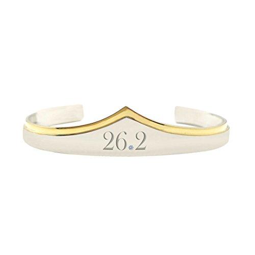 Wonder Woman Marathon 26.2 Silver Gold Cuff Bracelet Running Gift for - Chicago Silver Bracelets Sterling Bears