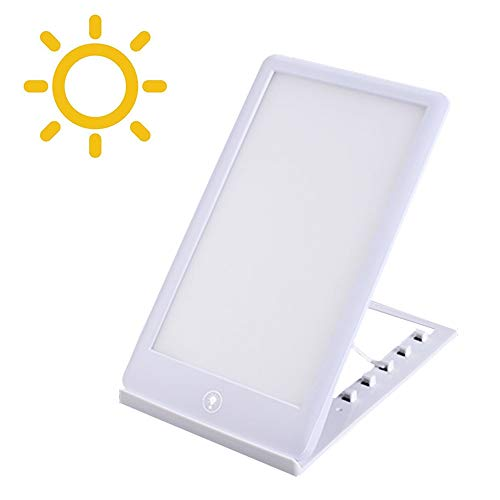 Portable 3 Modes Dimmable Daylight 10,000 Lux LED Bright White Light Box Pad Tablet Touch Timer Lux Intensity Therapy Lamp Happy Mood