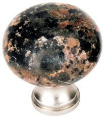 Granite Brown Baltic (10 Pcs of 1MK32 Granite Knobs Installed on Cabinet Cupboard Doors Drawers (Baltic Brown))