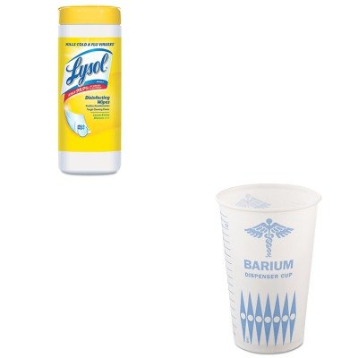 KITRAC81145CTSLORW16 - Value Kit - Solo Paper Medical amp;amp; Dental Graduated Cups (SLORW16) and LYSOL Brand Lemon/Lime Blossom Disinfecting Wipes w/Micro-Lock (RAC81145CT)