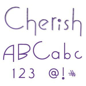 Sizzix 654546 Sizzlits Alphabet Set of 35 Dies - Cherish by STU Kilgour