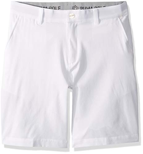 Puma Golf Boys 2019 Heather Pounce Short, Bright White, Large