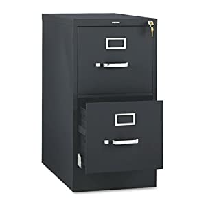 HON 512PP 510 Series 29 by 25-Inch 2-Drawer Full-Suspension Letter File,  Black
