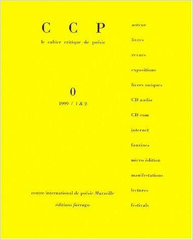 Lire Cahier Critique de Poésie: Dossier Franck Venaille pdf