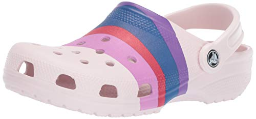 - Crocs Classic Graphic Clog, barely pink/multi, 4 US Men/ 6 US Women