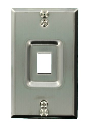 - Leviton 4108W-SP QuickPort Telephone Wall Jack, Stainless Steel