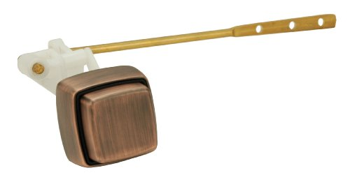 Toilet Tank Lever, Push-button Type, Front Mount, Antique Copper Finish - By Plumb USA 50722ROB (Antique Bronze Tank Lever)