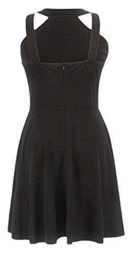 erdbeerloft - Vestido - Básico - Sin mangas - 100 DEN - para mujer negro