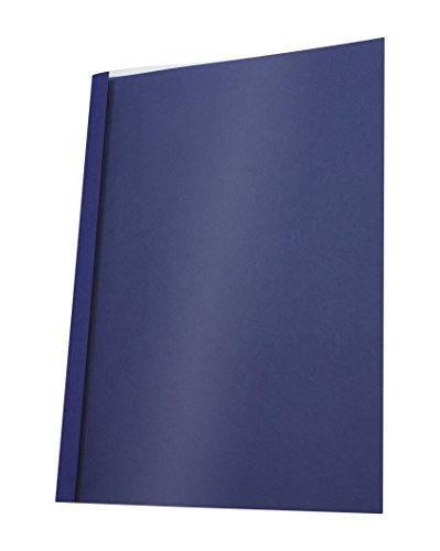 PAVO A4 Leather Look 4 mm Thermal Binding Cover - Clear/Blue (Pack of 25) Blue Clear Thermal Covers