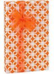 Bright Orange & White Geometric Links Geo Gift Wrap Wrapping Paper - 16ft Roll