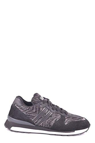 Hogan Ladies Mcbi148364o Sneakers In Camoscio Nero