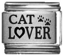 Cat Lover Laser Italian Charm -