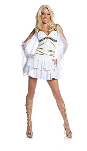 Underwraps Women's Aphrodite, White/Gold, Large (Greek Goddess Sandals)