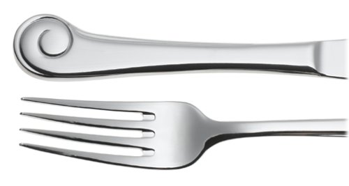 Ginkgo 38045-4 Stainless Steel Sanibel Surf 45-Piece Flatware Set, Service for 8, Silver