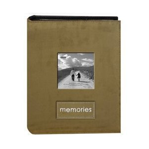 Pioneer Embroidered Patch Faux Suede Photo Album, with Front Cover Frame, Holds 100 4