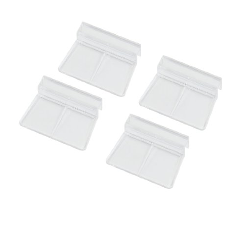 Uxcell Aquarium Fish Tank Glass Cover Clip Support Holder, 6mm, 4-Pack
