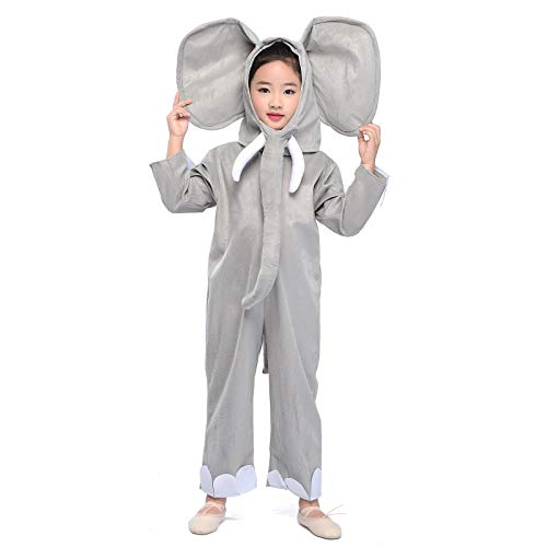 Wraith of East Kids Elephant Costume Animals Party Halloween Christmas Cosplay Fancy Dress S