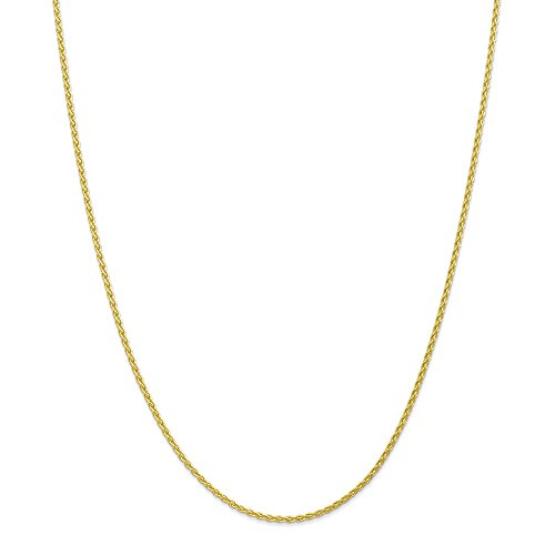10k Yellow Gold 1.9mm Parisian Wheat Chain 24in Necklace by Diamond2Deal