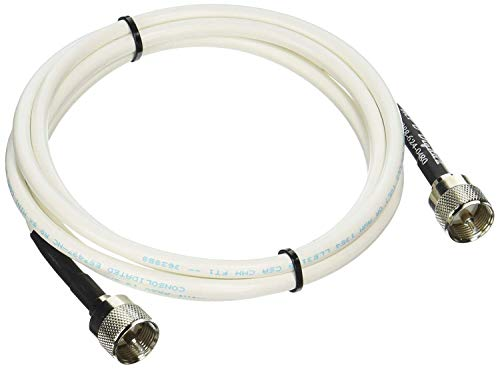 MPD Digital RG8x-W-PL259-6ft VHF Antenna Cable RF CB & AIS Mini-8 Coaxial Jumper Silver Teflon PL-259 6' - with Polyolefin Cross-Linked Strain Relief