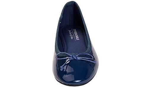 Ballet colorful Patent Flat Feversole Memory Women's Macaroon Navy zwq6X