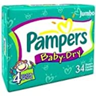 Pampers Baby Dry Diapers, Size 4, Sesame Street, 34-Count