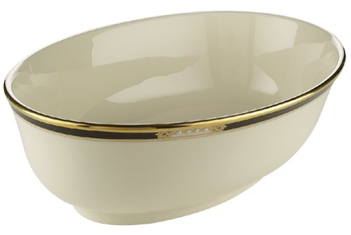 Lenox Hancock Gold-Banded Fine China Open Vegetable Bowl by Lenox