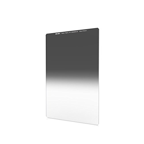 NiSi 150X170mm Square Hard Graduated Neutral Density Filter Nano GND8(0.9),ND 3 Stops Coating Optical Glass for Super Wide Angle Lens,compatible with Lee Cokin Hitech Singh-Ray