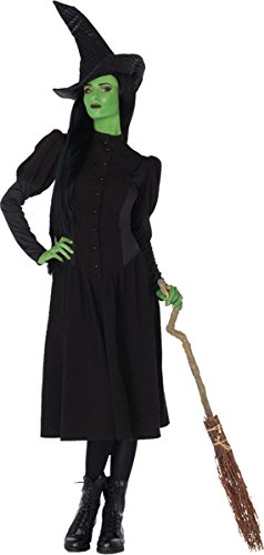 Leg Avenue Women's Wicked 2 Piece Elphaba Witch Costume, Black, Large
