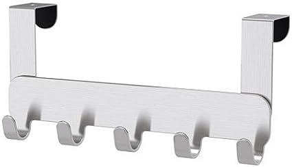 Ikea brogrund – Perchero colgador para puerta, acero inoxidable, 5 ...