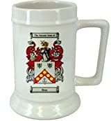 Boaz Family Crest Stein / Boaz Coat of Arms Stein