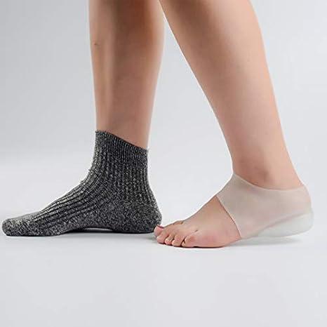 Crazywind Silicone Solette alzatacco invisibili Sollevamento del tallone Fodere per calzini per calze Sollievo dal sollievo dal dolore alle donne A, 2cm