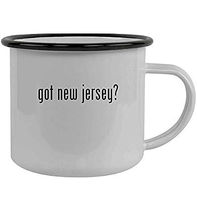 got new jersey? - Stainless Steel 12oz Camping Mug, Black