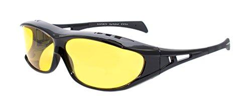 rainbow safety Überbrille Sonnenbrille Herren für Brillenträger Schutzbrille für Sport Radfahren Skifahren Angeln Auto Nachtsichtbrille Polarisierte Gläser RWN20
