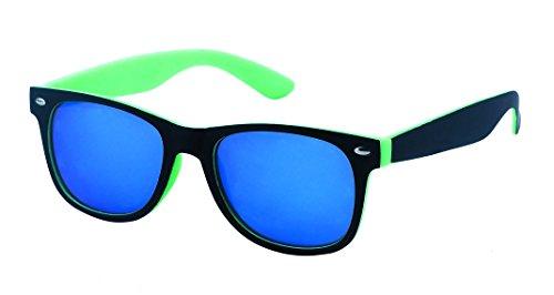 noir Turquoise à Net l'extérieur Wayfarer miroir l'intérieur Chic Nerd couleur 400UV de TR8qnaSn