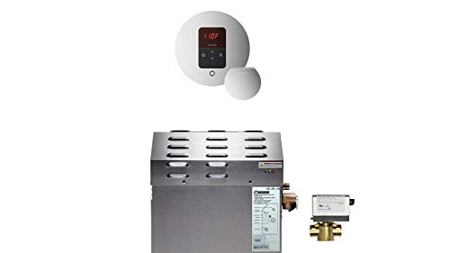 Mr Steam MS-150-EC1 Steam Bath Generator Package in Polished Nickel for rooms up to 150 cubic feet
