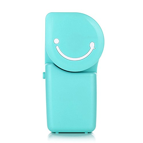 qiaoW 1Pcs Portable USB Air Conditioner Mini Mute Bladeless Handheld Small Personal Cooling Fan