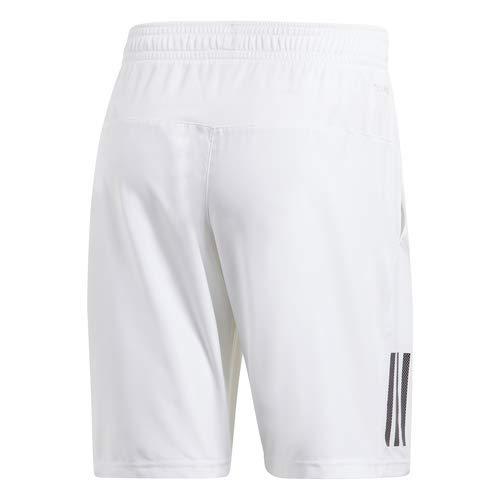adidas Men's Club 3-Stripes 9-Inch Tennis Shorts, White/Black, X-Large by adidas (Image #5)